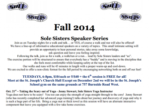 Sole Sisters Fall Speaker Series